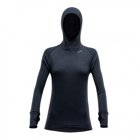 Devold Expedition apatiniai marškinėliai moterims su gobtuvu